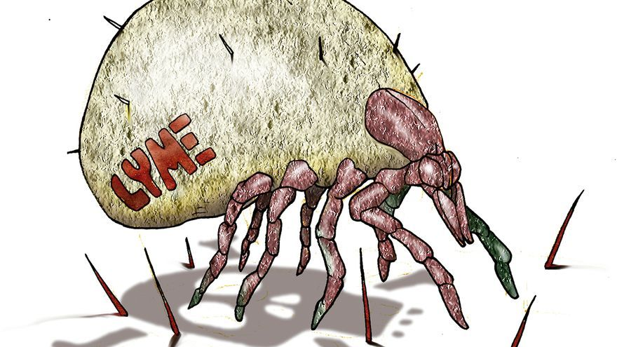 Ilustración de un parásito