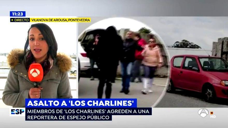 El hijo de Manuel Charlín agrede a una reportera de Espejo Público
