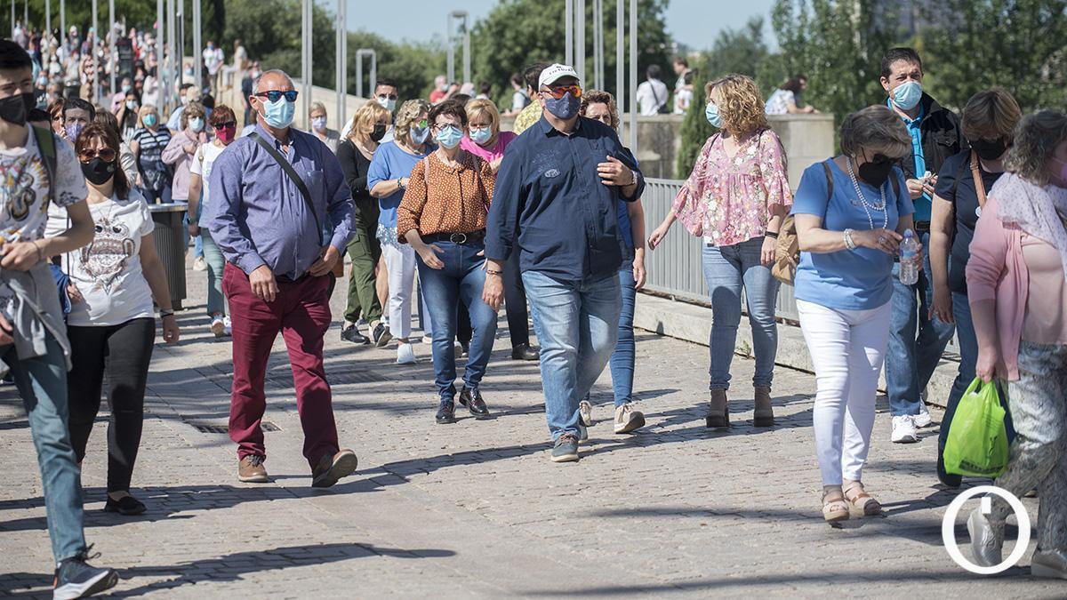 Turistas en Córdoba el pasado mes de mayo