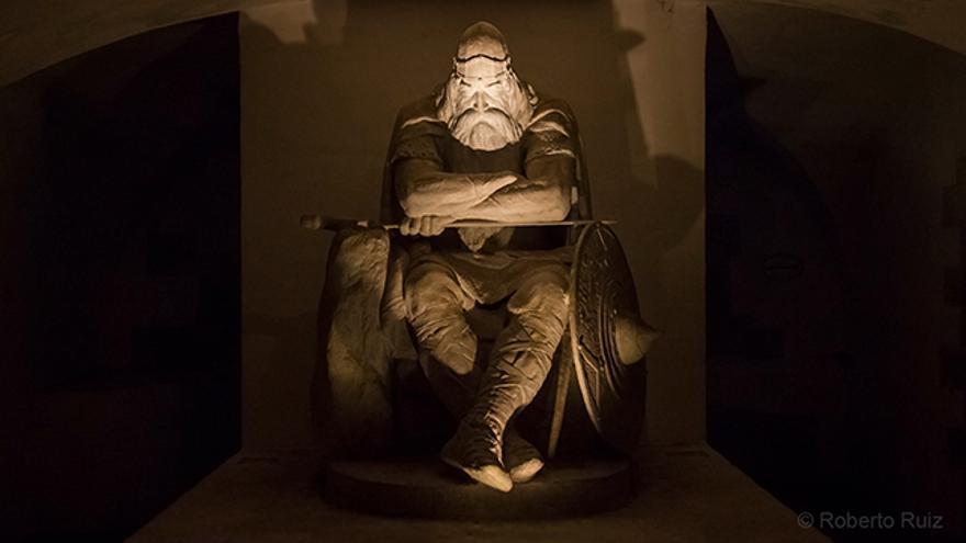 El héroe danés Holger Danske en el castillo de Kronborg, en Dinamarca