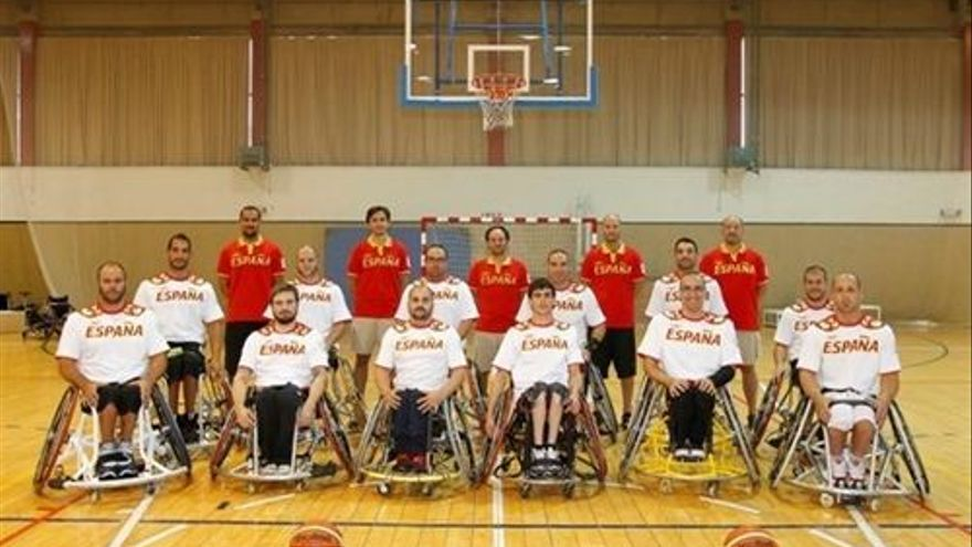 La selección española de baloncesto paralímpica. (EUROPA PRESS)
