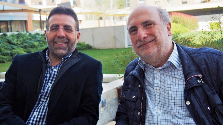 José Ramón Ubieto (izda) y Marino Pérez Álvarez (dcha). Foto (c): Sandra Vicente
