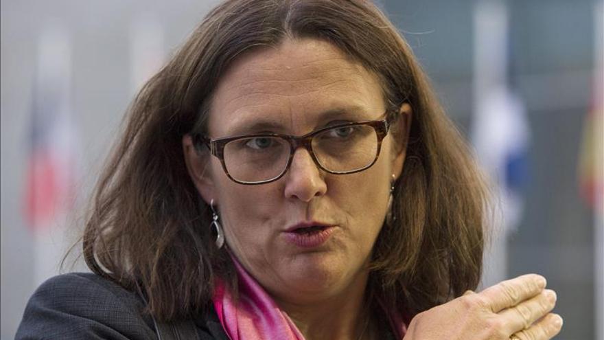 La comisaria de Comercio, Cecilia Malmstrom.