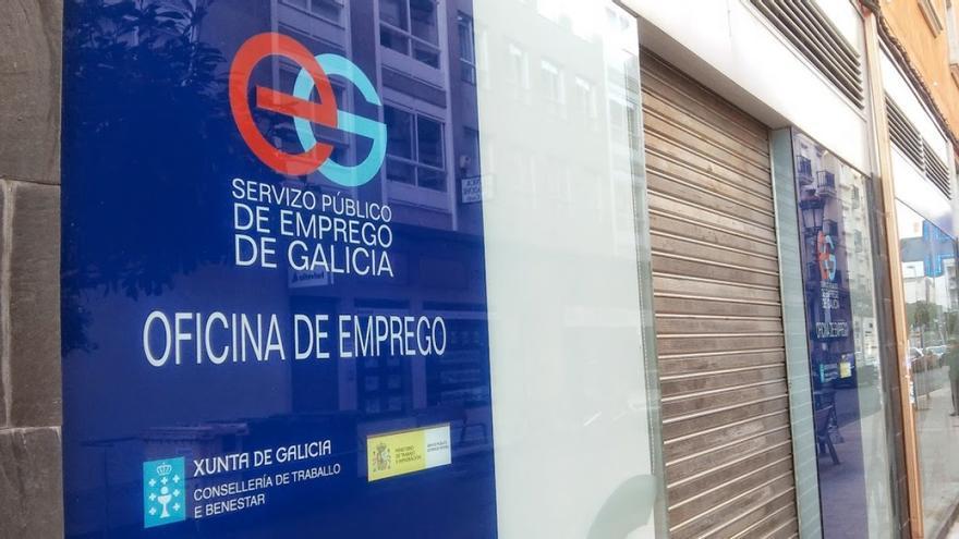 Oficina de empleo en una localidad gallega.