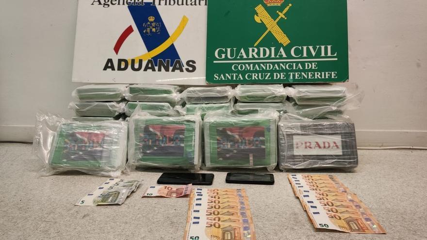 Cocaína intervenida por la Guardia Civil en el puerto de Santa Cruz de Tenerife
