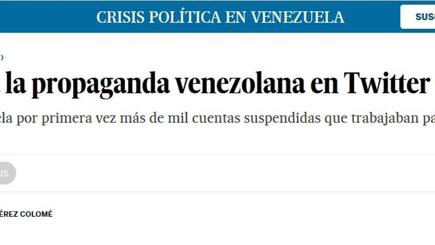 CUENTAS TWITTER SUSPENDIDAS VENEZUELA