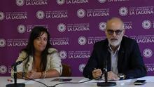 Idaira Afonso y Alberto Cañete, concejales de Igualdad y Formación del Ayuntamiento de La Laguna
