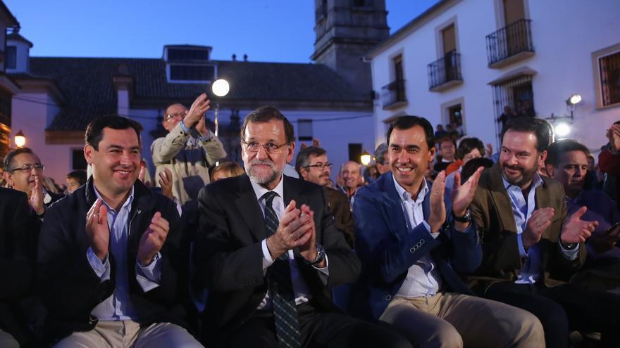 Mariano Rajoy con Juan Manuel Moreno.