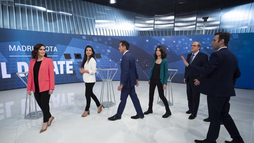 El debate de Telemadrid entre los candidatos a presidir la Comunidad de Madrid.
