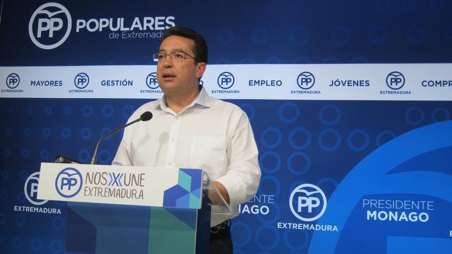 """El PP de Extremadura considera que con las primarias del PSOE """"se vuelve a constatar"""" que este partido está """"roto"""""""