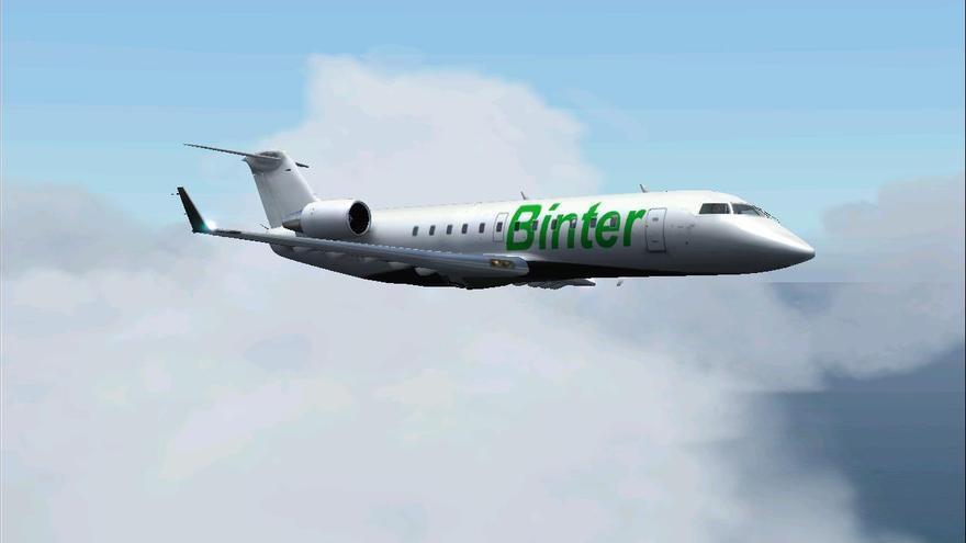 Avión a reacción de la compañía Binter