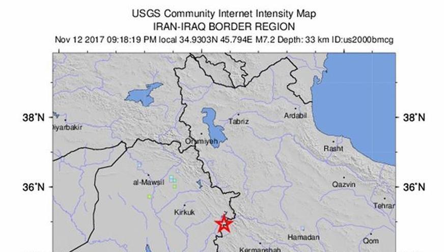 Un fuerte terremoto provoca daños materiales en el norte de Irak y sacude Kuwait