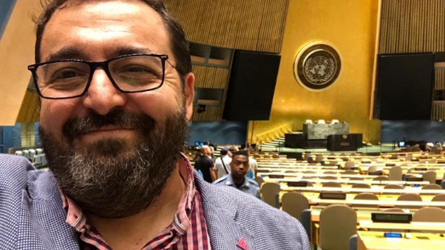 José María Núñez, en la sede de la ONU en Nueva York / JCD