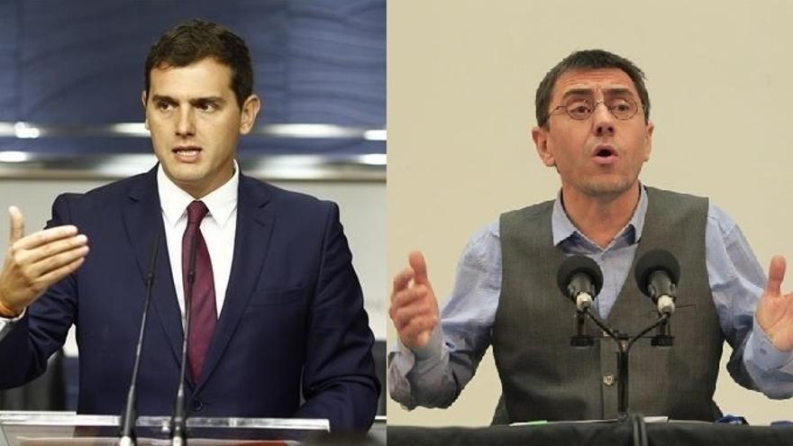 Rivera y Monedero cierran su pleito con disculpas del cofundador de Podemos por su polémico gesto sobre el líder de Cs