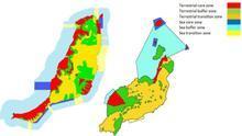 Zonas de distribución de las Reservas de la Biosfera de Lanzarote y Fuerteventura según el informe del MaB.