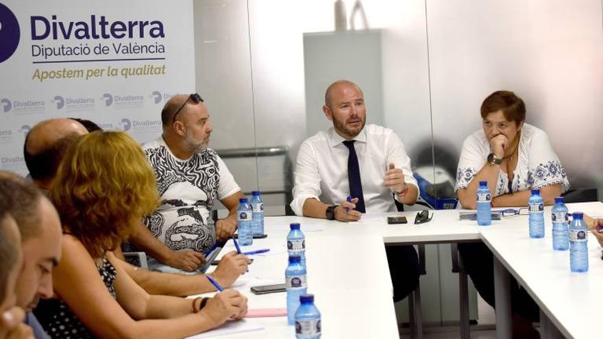 El presidente de la Diputación de Valencia, Toni Gaspar, en el consejo de Divalterra