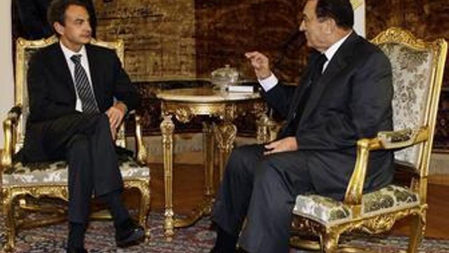 Zapatero se reúne con el presidente de Egipto