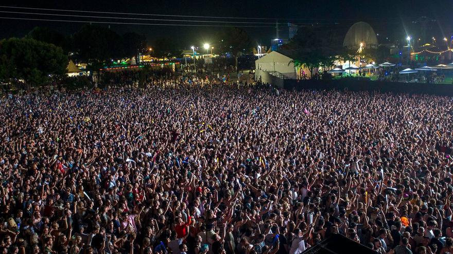 El público del FIB durante la noche del jueves 13 de julio