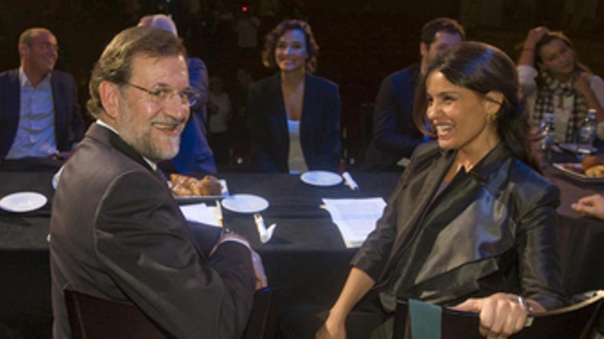 Rajoy y artistas del teatro