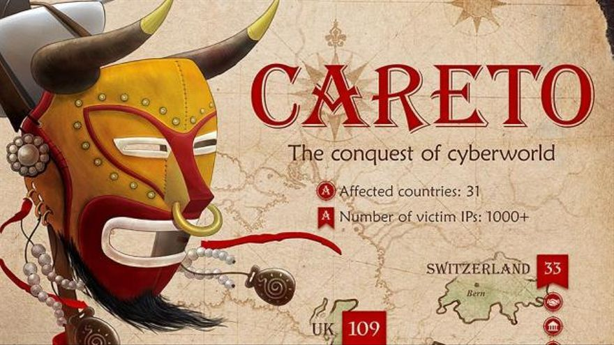 'Careto' podría tener origen español o hispano, pues se han encontrado varios términos en castellano dentro del software