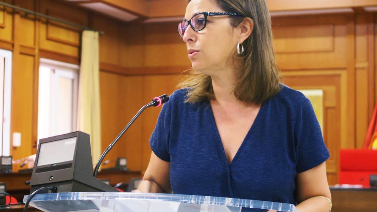 Isabel Ambrosio, durante la rueda de prensa.