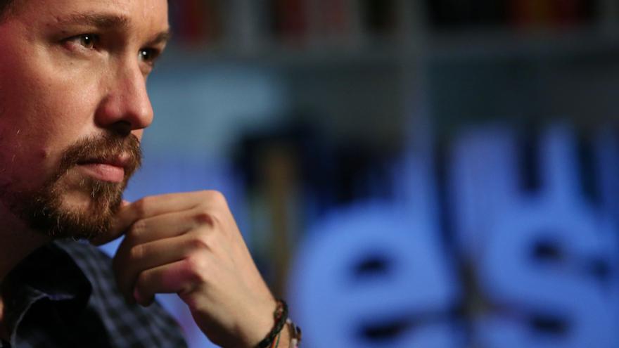Pablo Iglesias, durante la entrevista en eldiario.es