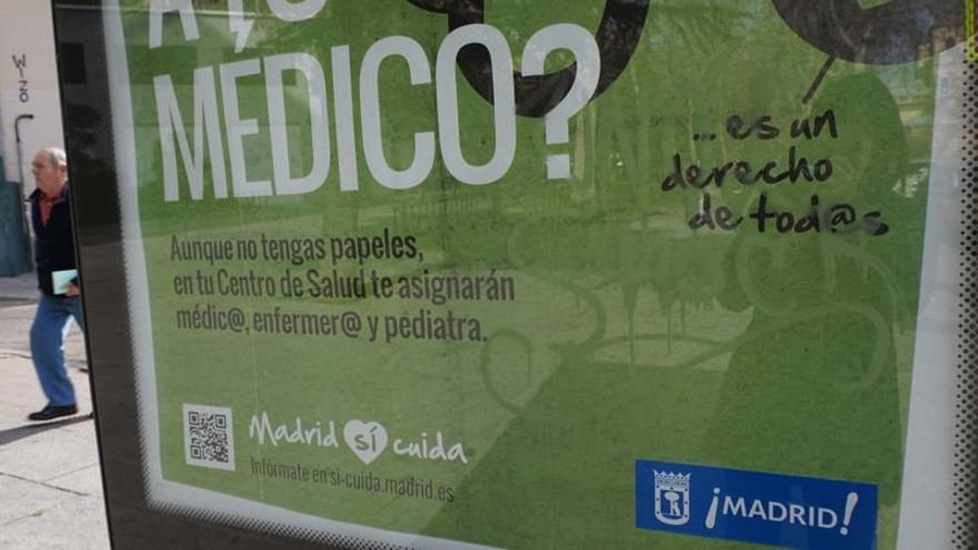 Campaña del Ayuntamiento de Madrid contra la exclusión sanitaria