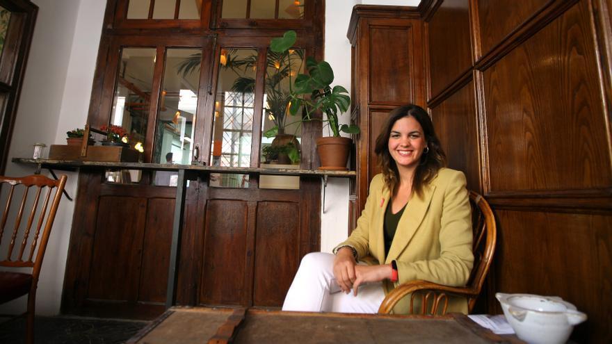 La candidata a la alcaldía de València por el PSPV, Sandra Gómez