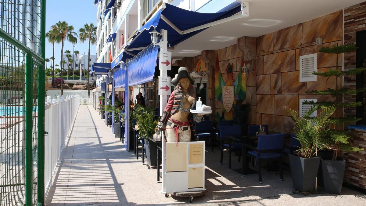 Restaurante-Teatro Rainbow, en la Avenida de Bonn, Playa del Inglés (Gran Canaria)