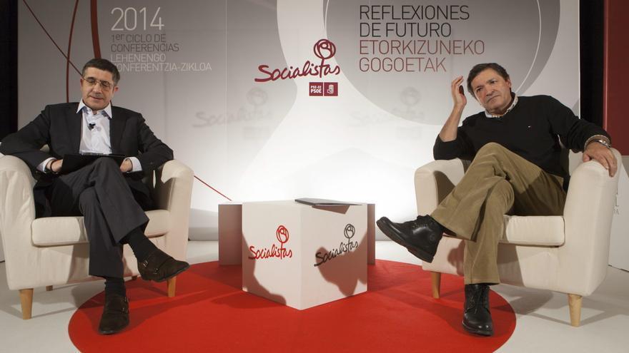 Patxi López junto al presidente asturiano, Javier Fernández, en una imagen de archivo.