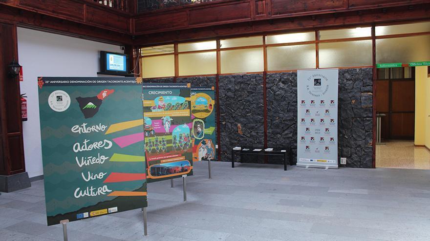 Montaje que se puede visitar en el Ayuntamiento de Tegueste