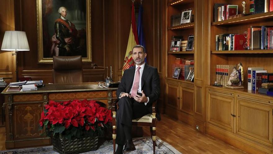 El mensaje del Rey en TVE, lo más visto de la Nochebuena