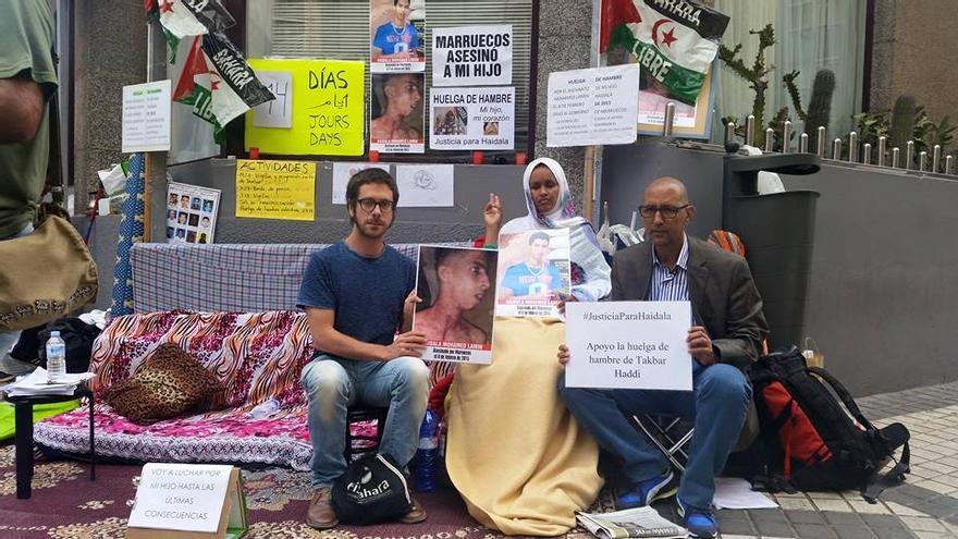 Takbar Haddi lleva en huelga de hambre deswde el 15 de mayo.