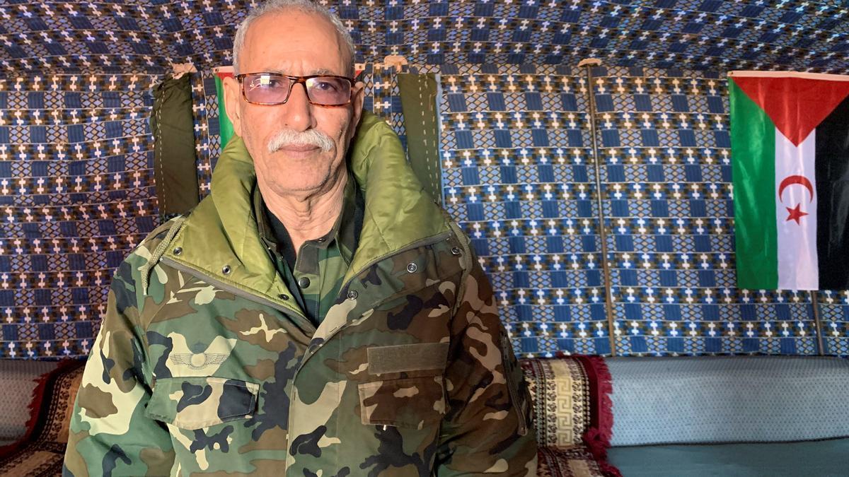 Fotografía de archivo del líder del Frente Polisario y presidente de la República Arabe Democrática Saharaui (RASD), Brahim Ghali. EFE/Javier Martín/Archivo