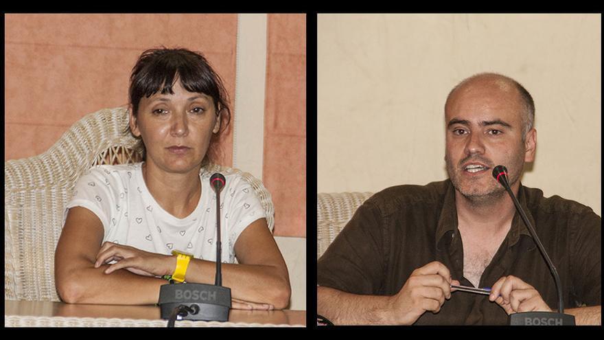 La alcaldesa Magda Mengual (Compromís) y el portavoz de JuGa, Jaume Monfort