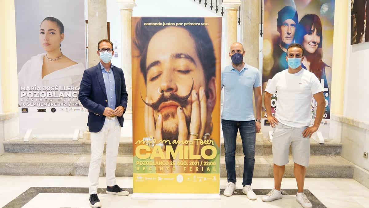 Presentación del concierto de Camilo en Pozoblanco