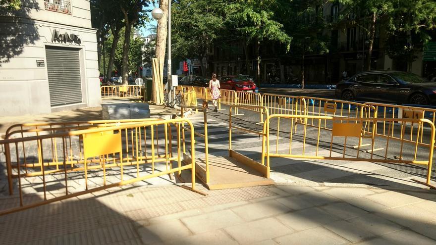 Obras en el acceso desde Alberto Aguilera a la calle Acuerdo | SOMOS CHAMBERÍ