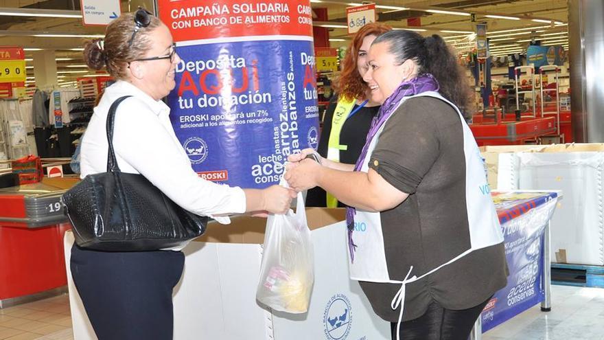 Campaña solidaria del Banco de Alimentos.