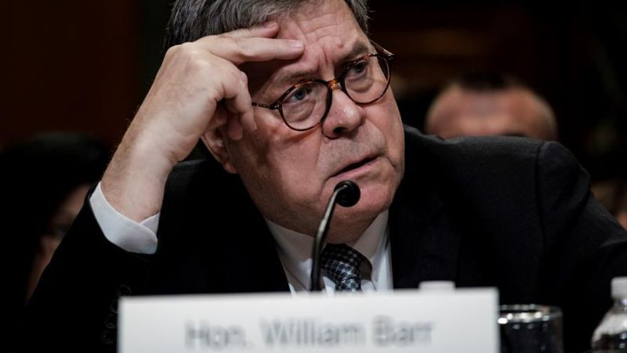 En la imagen, el fiscal general de Estados Unidos, William Barr.