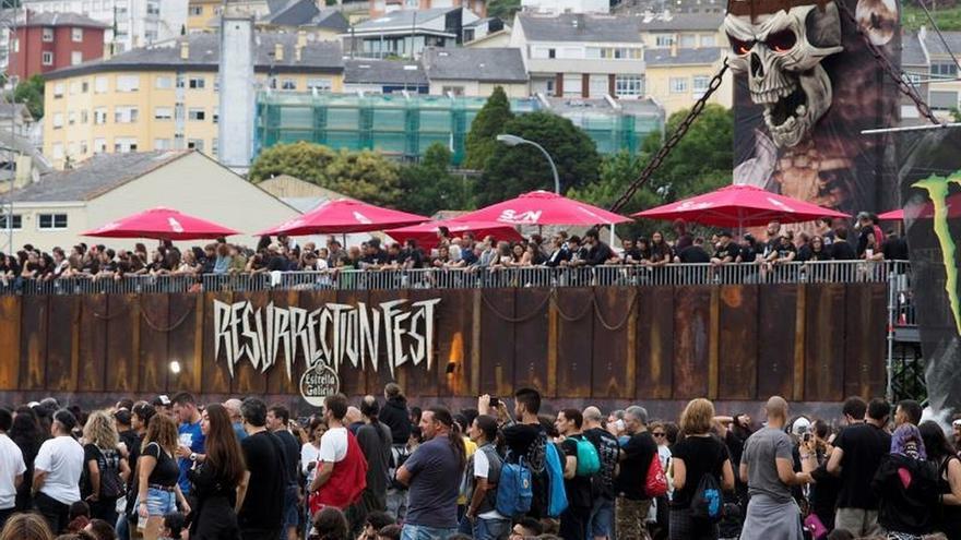 Público asistente a una edición del Resurrection Fest 2018.
