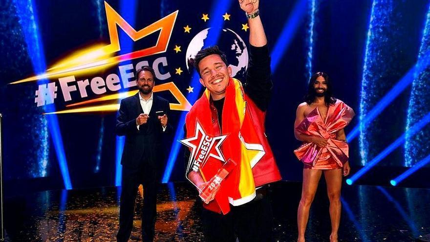 Nico Santos tras convertirse en ganador del 'Free European Song Contest'