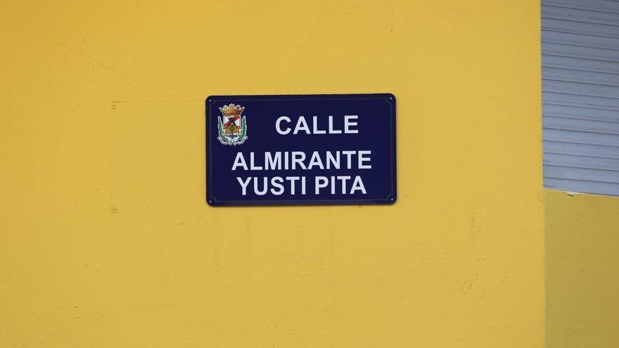 La calle del Almirante Yusty Pita en Canarias podría incumplir la Ley de Memoria Histórica