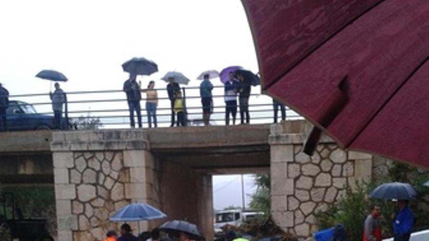Zonas afectadas por las lluvias en Málaga