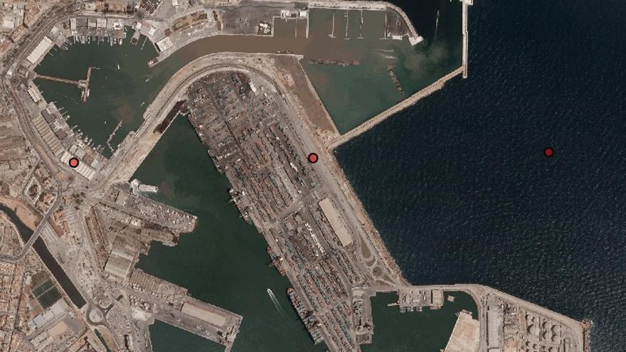 El puerto de Valencia en 2006, en plena construcción del canal de acceso de la Copa América, en una imagen del Instituto Cartográfico de Valencia
