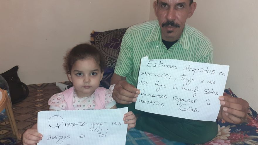 Campaña de cientos de canarios para volver de Marruecos a Canarias.