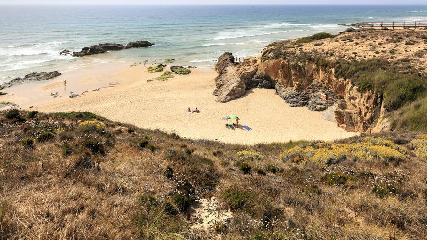 La 'praia do Malhão' en la costa vicentina
