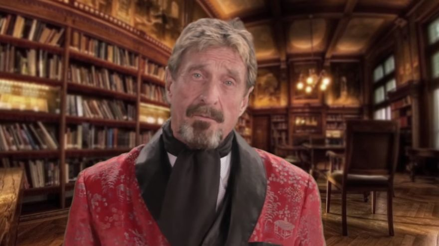 John McAfee. Foto: YouTube