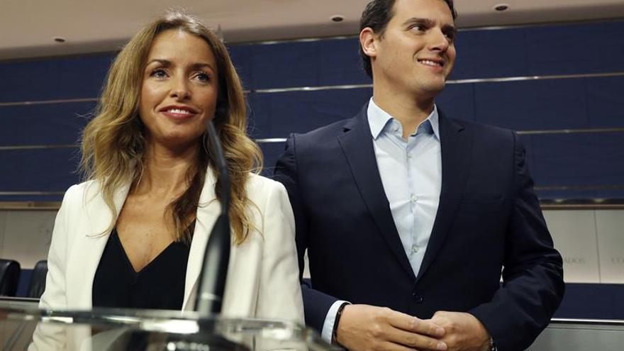 Albert Rivera y la diputada de Ciudadanos Patricia Reyes.