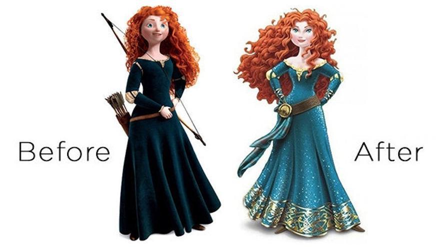 Las dos versiones de la princesa Merida de Disney