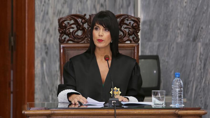 Eva María Hernández, en su toma de posesión como secretaria de Gobierno del TSJC. (ALEJANDRO RAMOS)